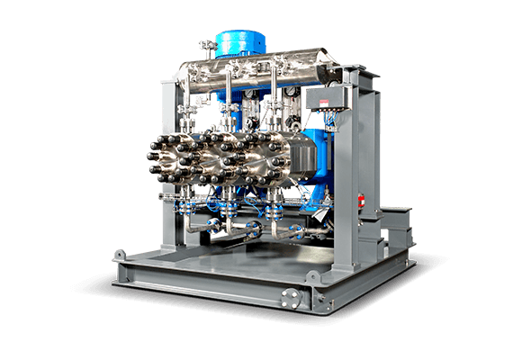 LEWA process pump for the petrochemicals industry